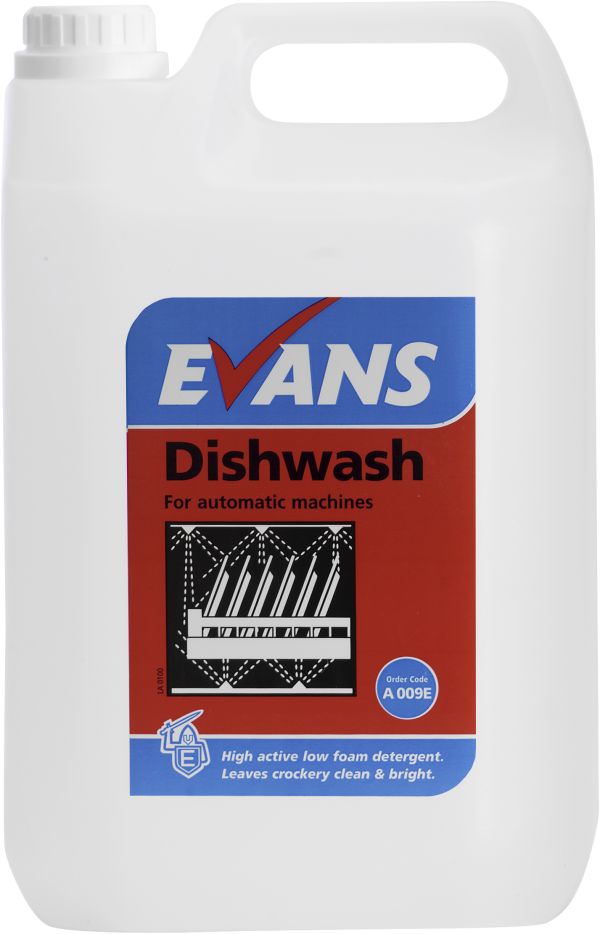 Evans Dish Wash - For Soft, Medium & Hard Water Areas -
