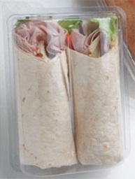 Tortilla Wrap Clear Hinged Box