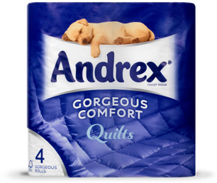 Andrex� Gorgeous Comfort Quilts 10 x 4 Pack