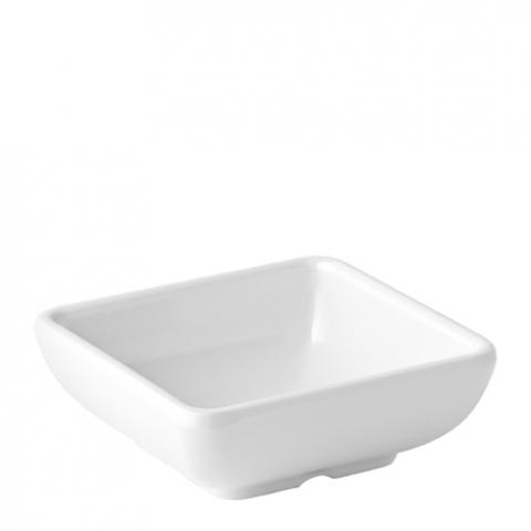 Melamine Shallow Sqaure Dish 3'' (7.5cm)