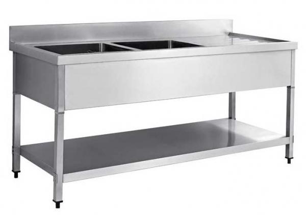 Stainless Steel 1.4M RHD Double Bowl Sink