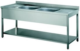 Stainless Steel 1.8M Double Bowl and Double Drainer Sink