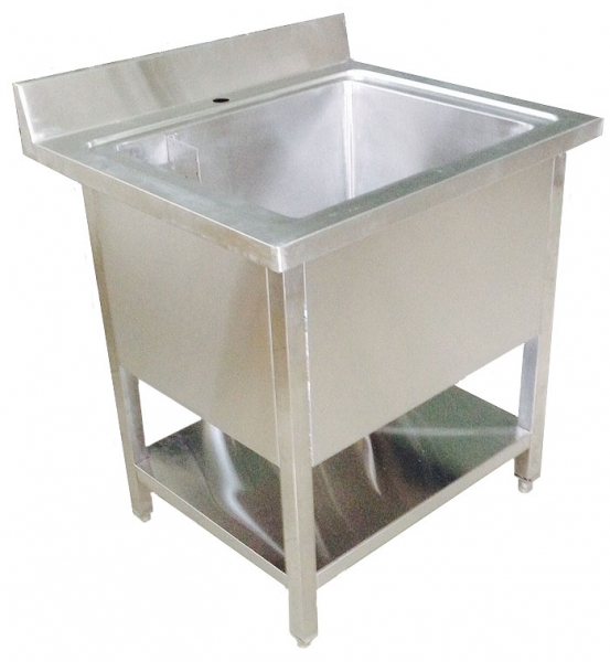 Stainless Steel Single Bowl Pot Wash Sink