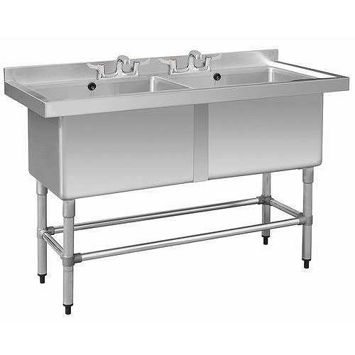 Stainless Steel Double Pot Wash Sink
