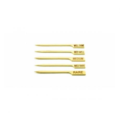 "3.5"" Steak Bamboo Paddle Pick Medium-Rare (100)"