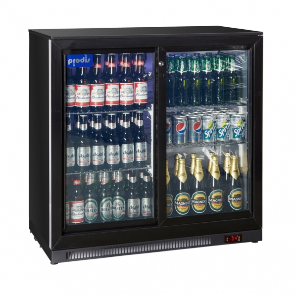 Prodis Low Profile Double Bottle Cooler - Black