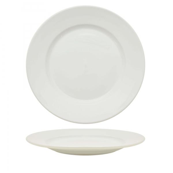 "Sango Wide Rim Plate 26cm 10.25"""