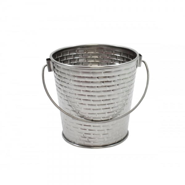 Brickhouse Round Pail with Handle Stainless Steel 8x8.5cm