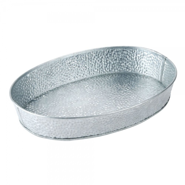 Galvanised Collection Oval Diner Platter 30x23cm